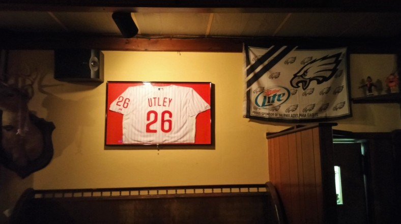 A signed jersey, one of the several odes to Chase at Oaklyn Manor.